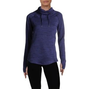 Marmot Annie Long Sleeve Quilted Blue Pullover